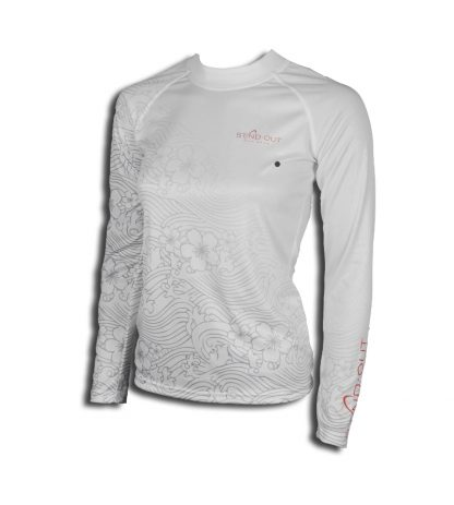 QuickDry Long Sleeve Stand Out Woman White